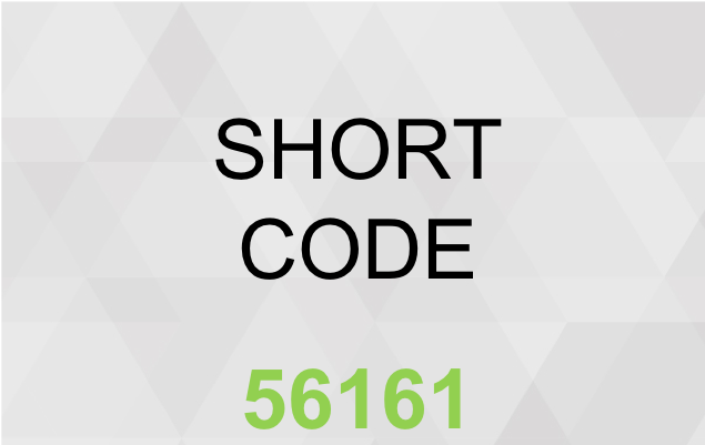 SHORT CODE SMS SERVICE 56161