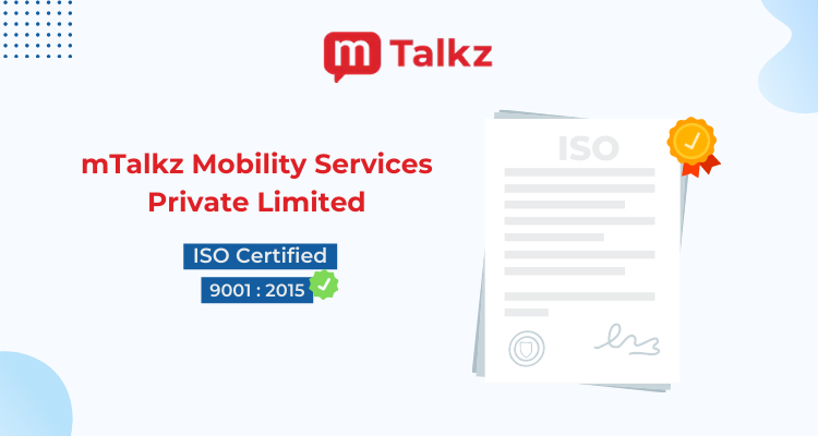 mTalkz is Excited to Announce That We are Now Officially ISO Certified